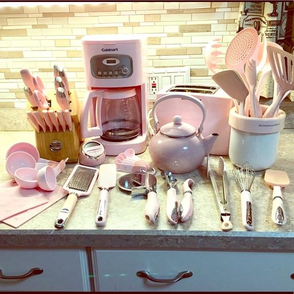 PINK Kitchenaid & Cuisinart Appliances & Utensils